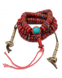 Mala 108 Grani Tibetano Rosso