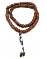 Mala 108 grani in semi di Bodhi con pendente Tzi