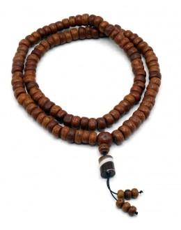 Mala 108 Grani in semi di Bodhi con tre contamantra