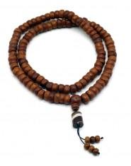Mala 108 grani in semi di Bodhi con pendente in Agata