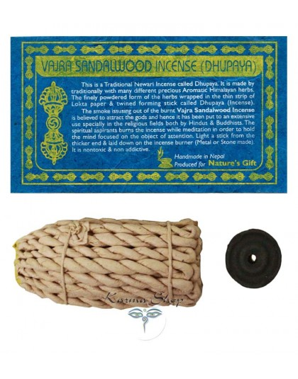 Incenso Rope Vajra Sandalo