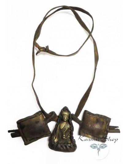 Buddha con laccio in pelle