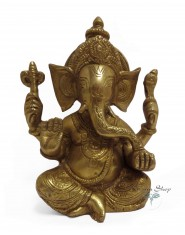 Statua Metallo Ganesh Grande
