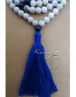 Mala 108 Grani in Howlite con nappa blu