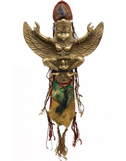Talismano di Garuda grande in bronzo
