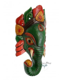 Maschera Ganesh verde Media