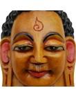 Maschera Buddha giallo Piccolo