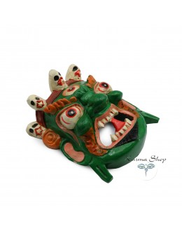 Maschera Mahakala verde Piccola