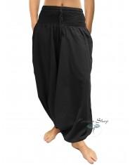 Pantaloni Arabi Tinta Unita - Nero