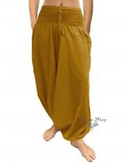 Pantaloni Arabi Tinta Unita - Senape