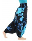 Pantaloni Arabi Fiori Blu
