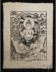 Poster piccolo Natural Ganesh seduto