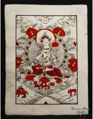 Poster piccolo Natural Tara Bianca rosso/oro/nero