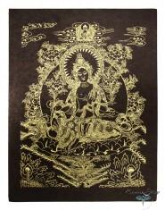Poster piccolo Tara Verde Oro/Nero