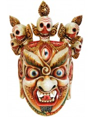 Maschera Mahakala bianca grande
