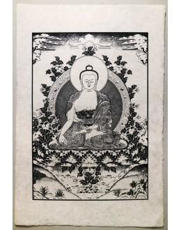 Poster Carta Di Riso Buddha della Medicina