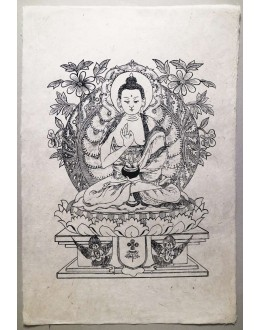 Poster Carta Di Riso Buddha Amoghasiddhi