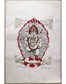 Poster Carta Di Riso Ganesh