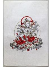 Poster grande Tara Verde rosso/oro/nero