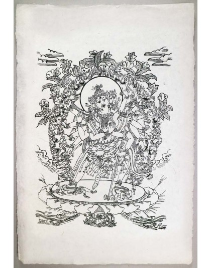 Poster Carta Di Riso Samantabhadra