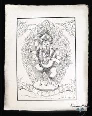 Poster piccolo Natural Ganesh in piedi