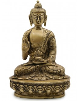 Statua Metallo Buddha Amoghasiddhi