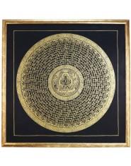 Mandala Om Mani e Avalokitesvara con Cornice