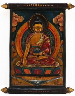 Pannello con Buddha Sakyamuni