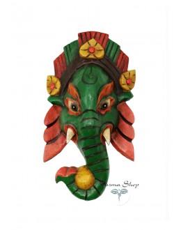 Maschera Ganesh verde Piccola