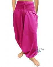 Pantaloni Arabi Tinta Unita Fucsia