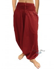 Pantaloni Arabi Tinta Unita - Rosso mattone