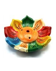 Bruciaincenso in terracotta Loto colorato