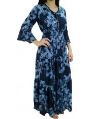 Vestito lungo blu